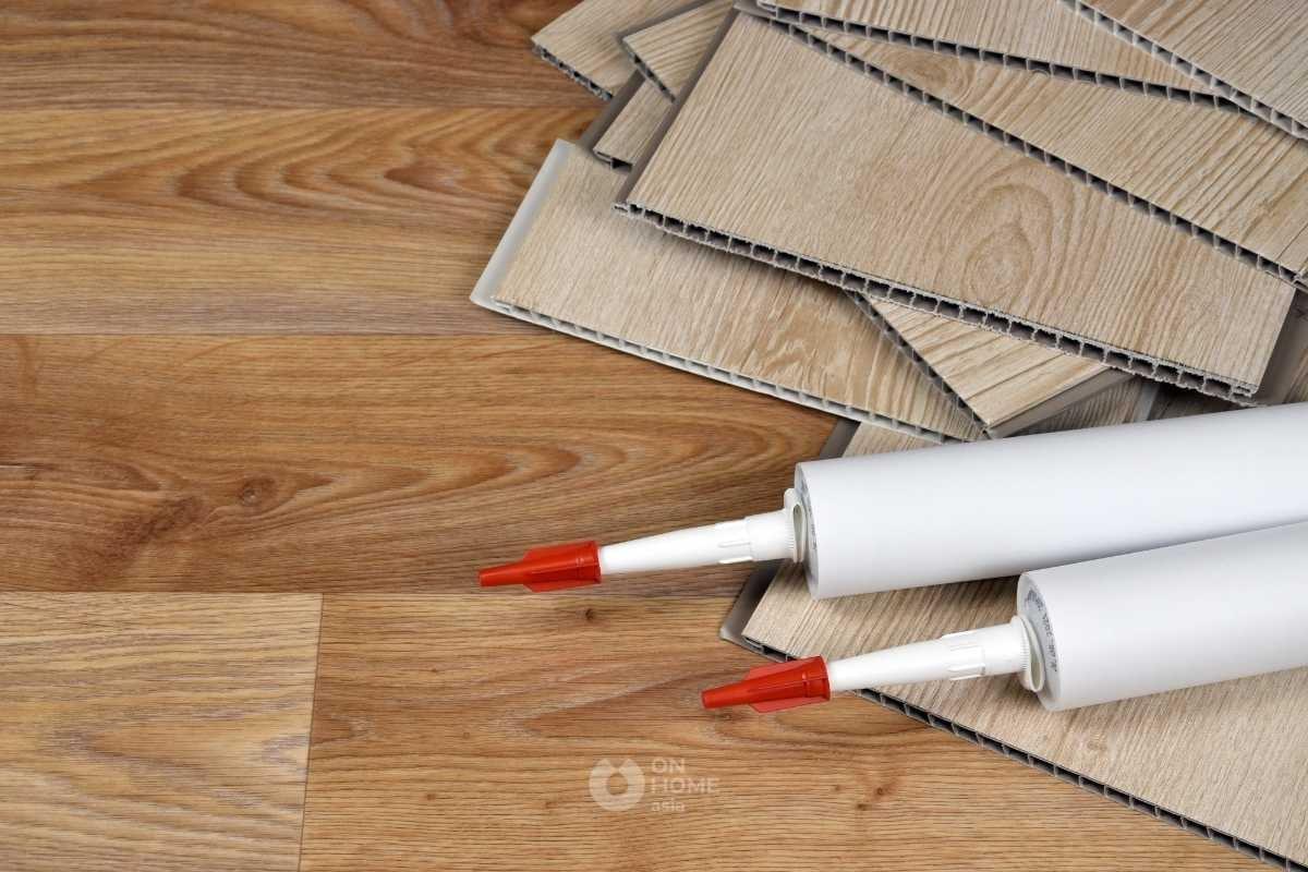 Tấm ốp tường PVC vân gỗ đơn giản