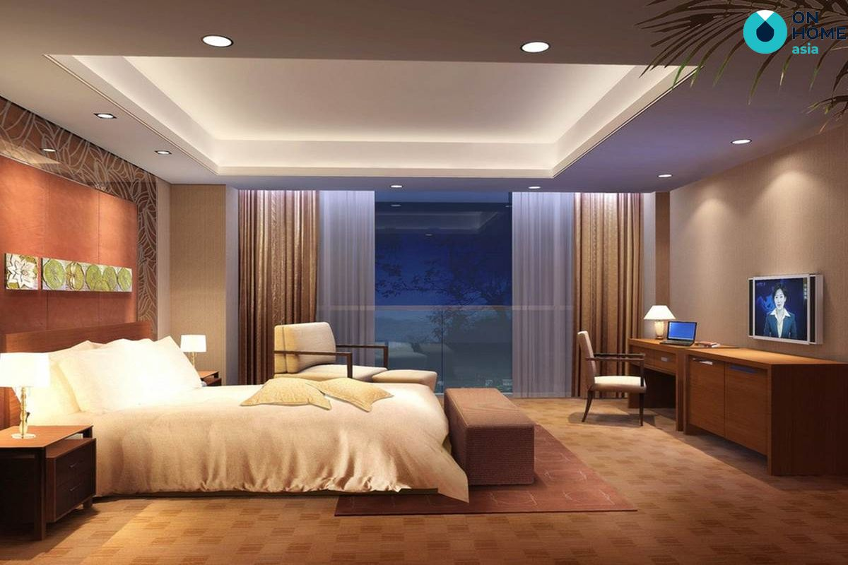 Ánh sáng nội thất phòng ngủ hiện đại