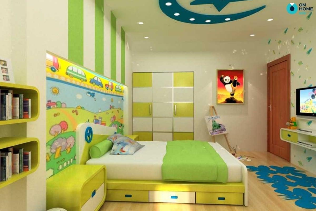 Ánh sáng phòng ngủ bé trai