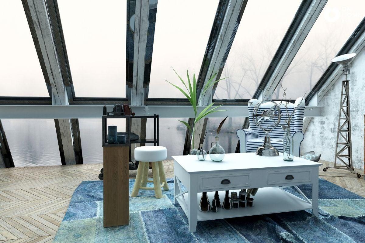 Ánh sáng tự nhiên cho phòng khách hiện đại