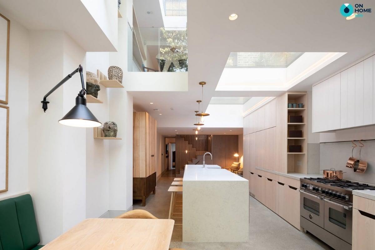 thiết kế giếng trời cho nhá bếp