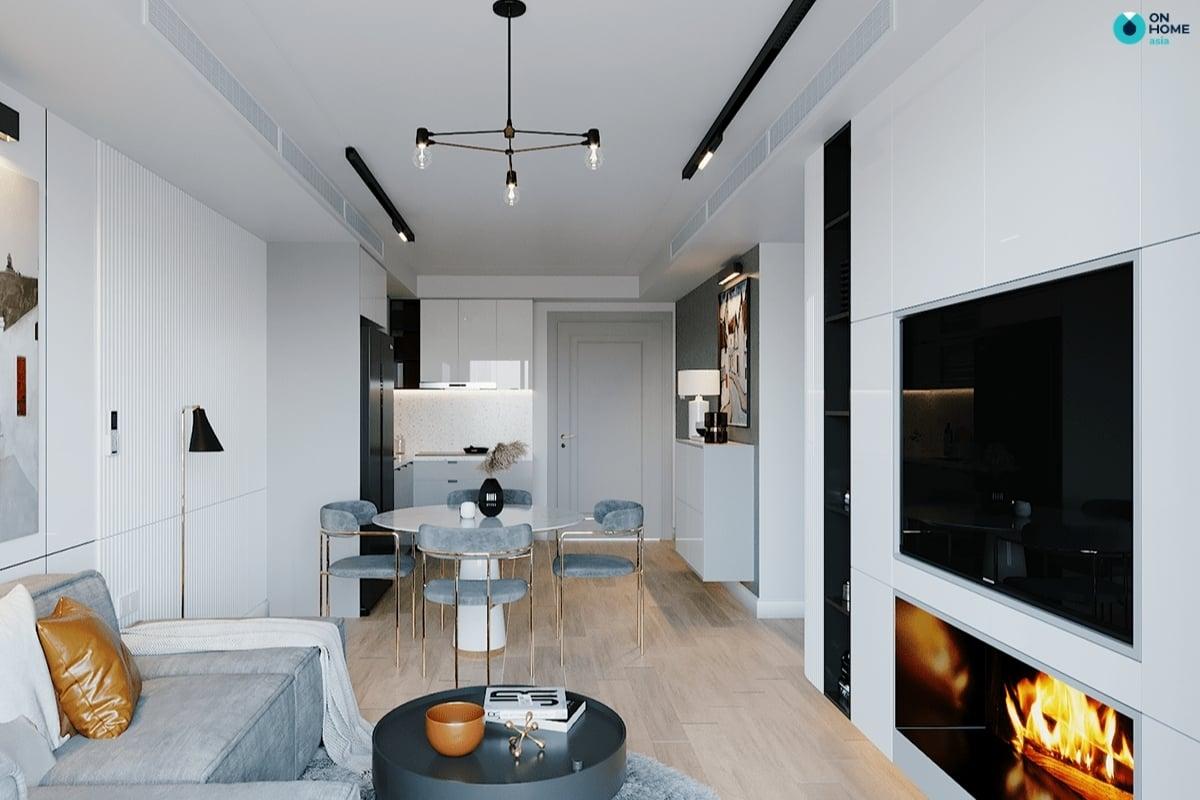 Phòng khách thiết kế theo căn hộ chung cư