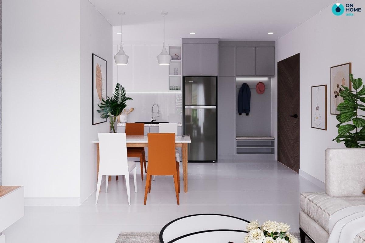 Nội thất phòng bếp dành cho không gian căn hộ chung cư Compass One