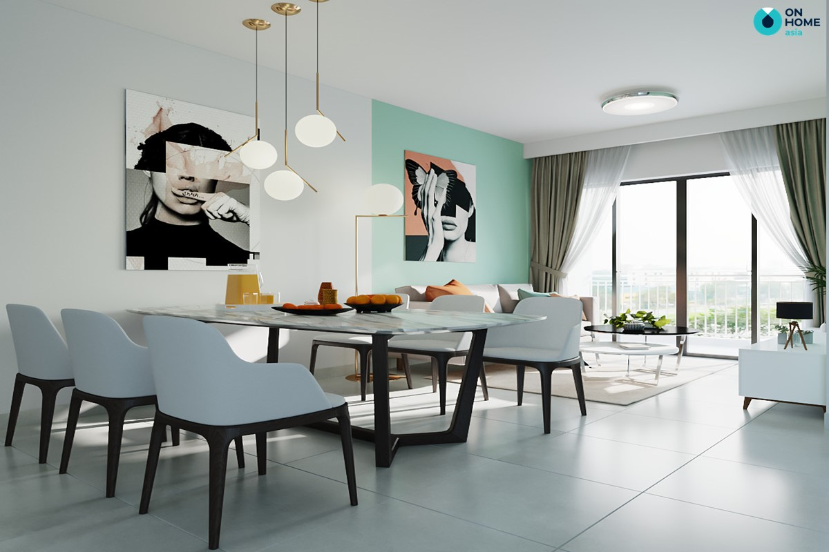 không gian phòng khách căn hộ Habitat