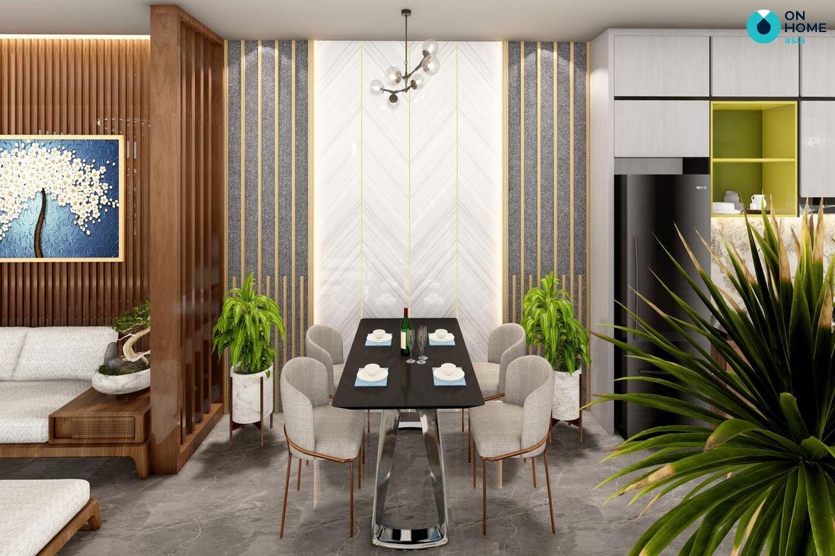 Phòng ăn dự  án nhà phố Ecolakes