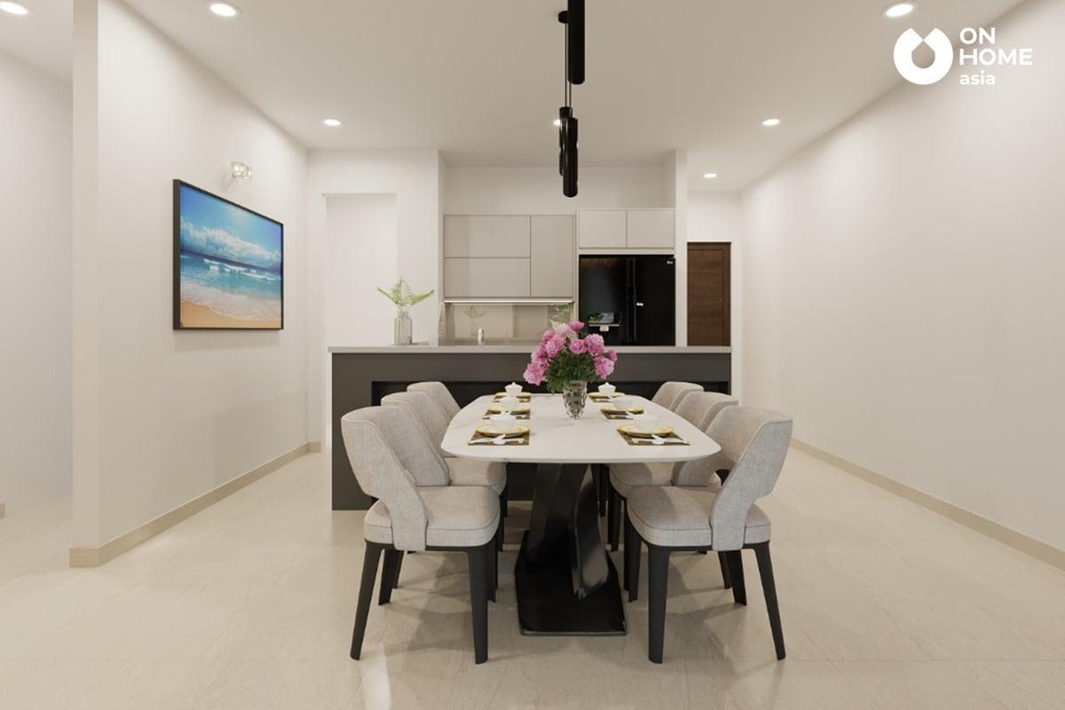 bàn ăn căn hộ The Habitat 3 phòng ngủ