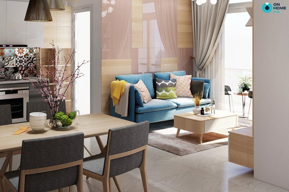 thiết kế ban công với bộ bàn ghế đẹp