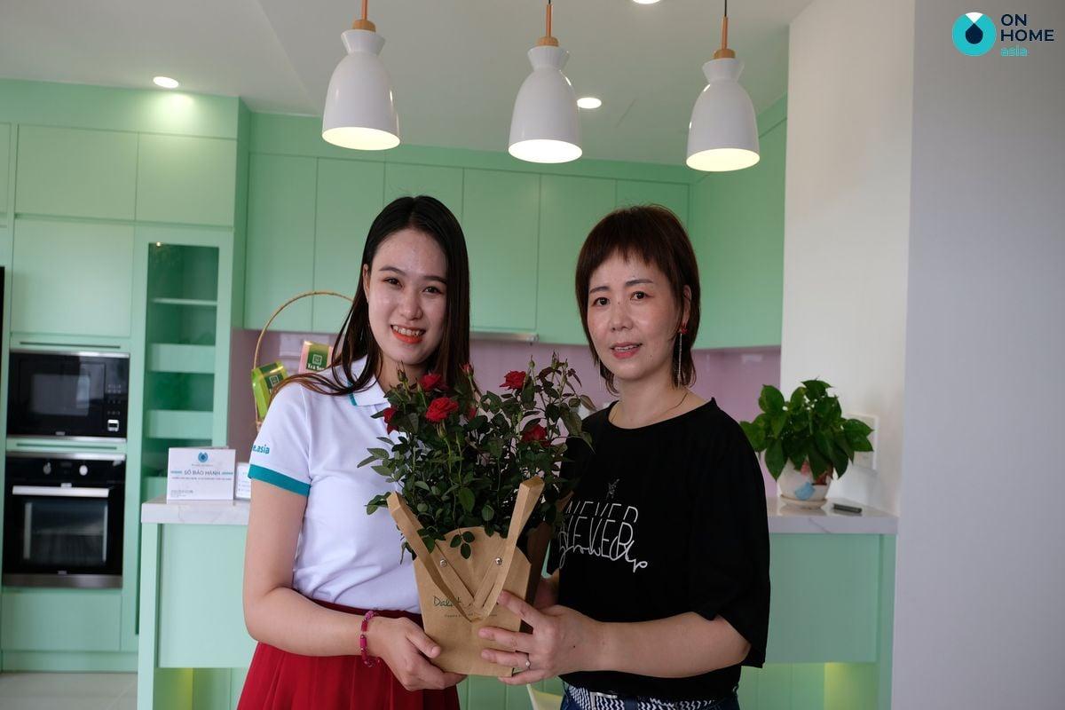 Bàn giao nội thất tại căn hộ The View 3 phòng ngủ của chị Wú Xīn Róng