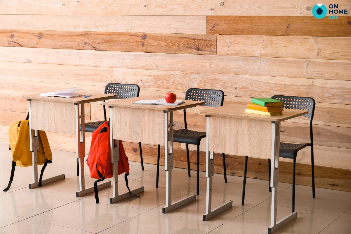 bàn học gỗ công nghiệp