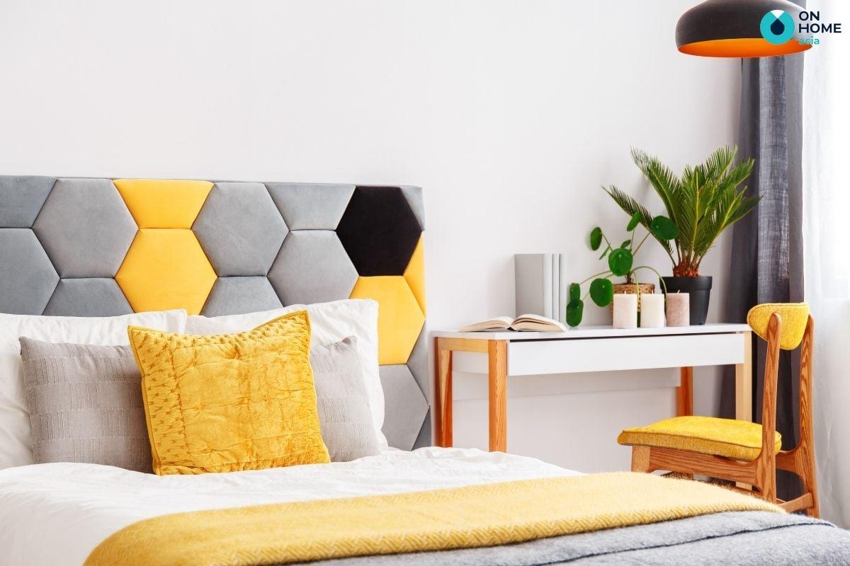 Nội thất phòng ngủ được thiết kế bàn làm việc