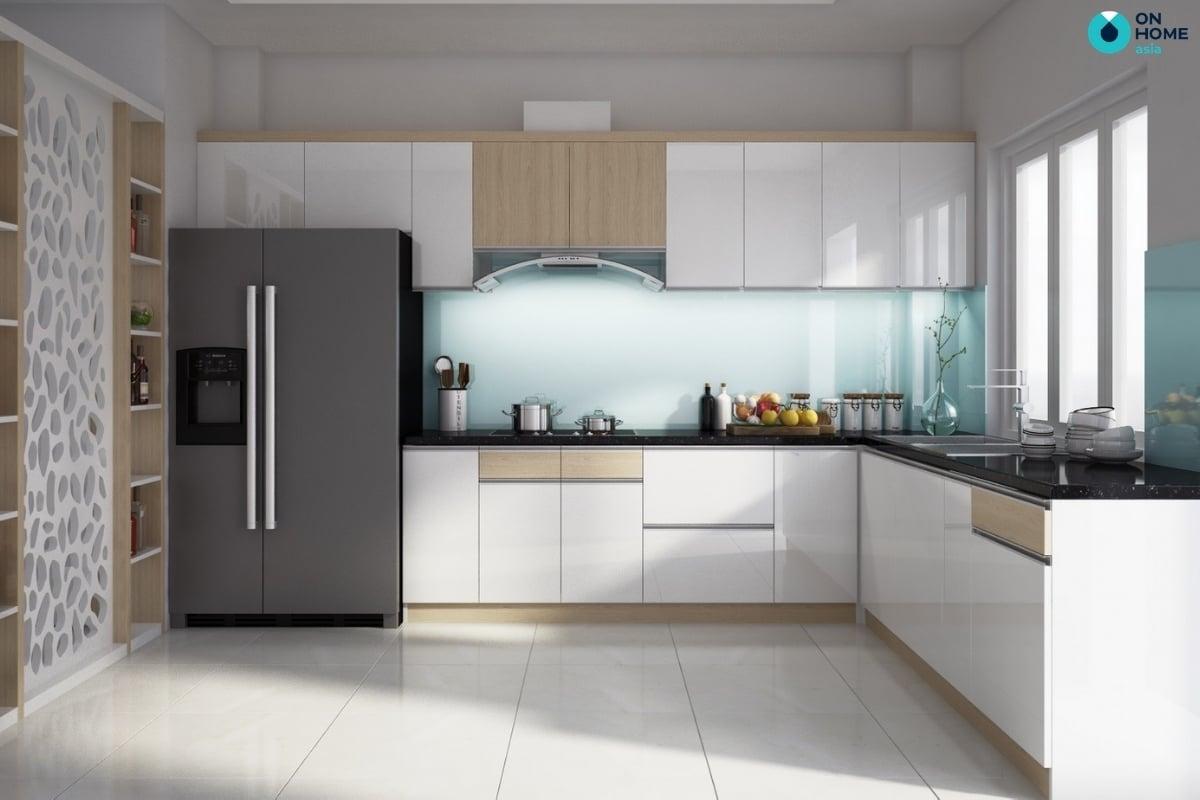 thiết kế tủ bếp chữ l đẹp