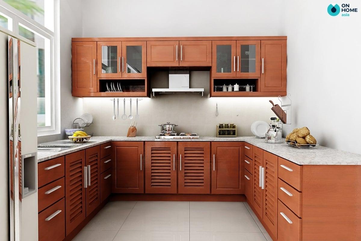 tủ bếp dạng chữ u