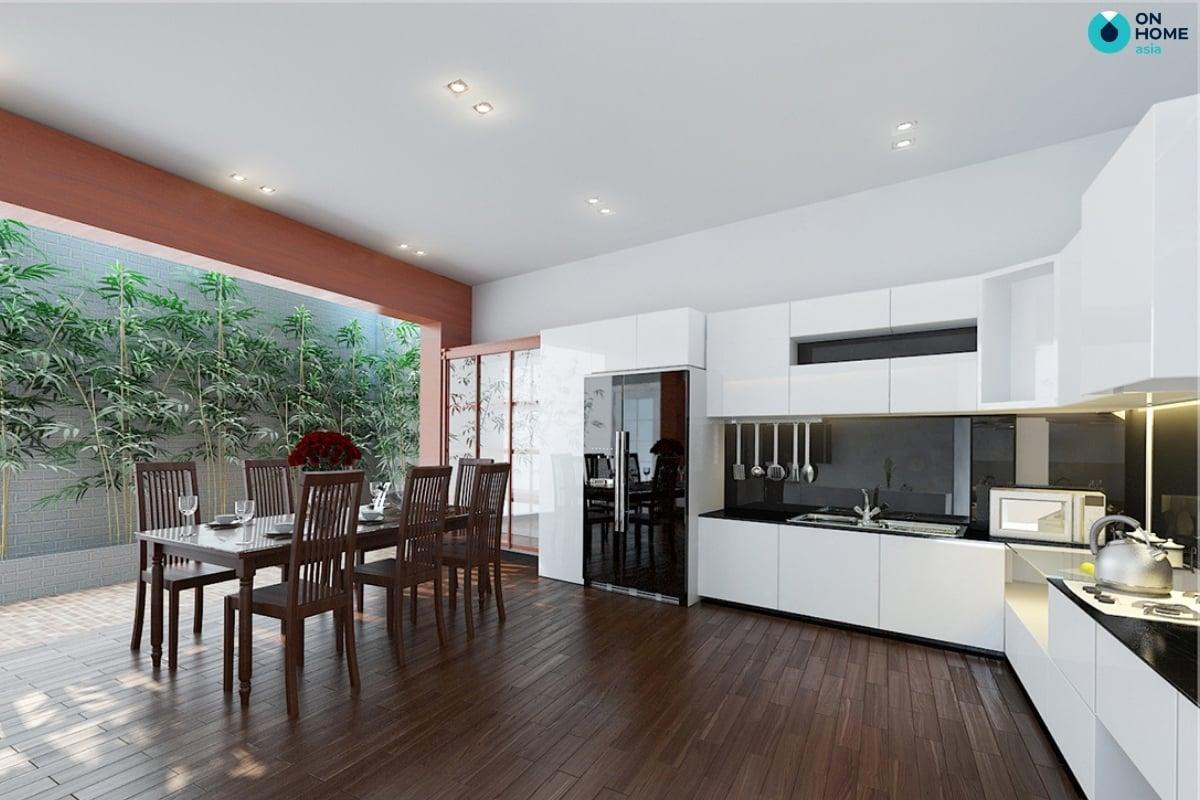 nhà bếp với không gian mở