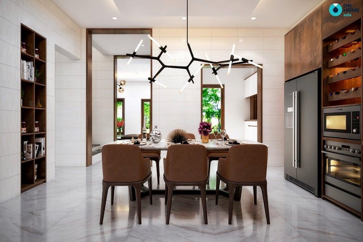 mẫu phòng bếp nhà phố bằng gỗ đẹp