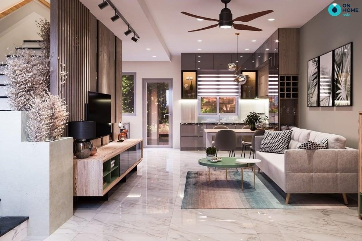 thiết kế phòng bếp nhà phố sun casa