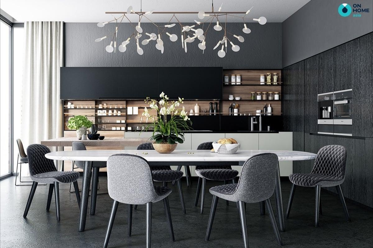 mẫu nội thất nhà bếp biệt thự đẹp