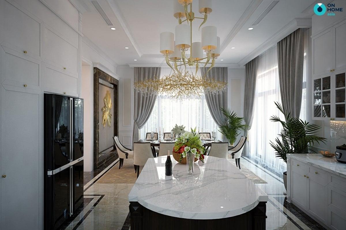 nội thất ánh kim dành cho thiết kế nhà bếp