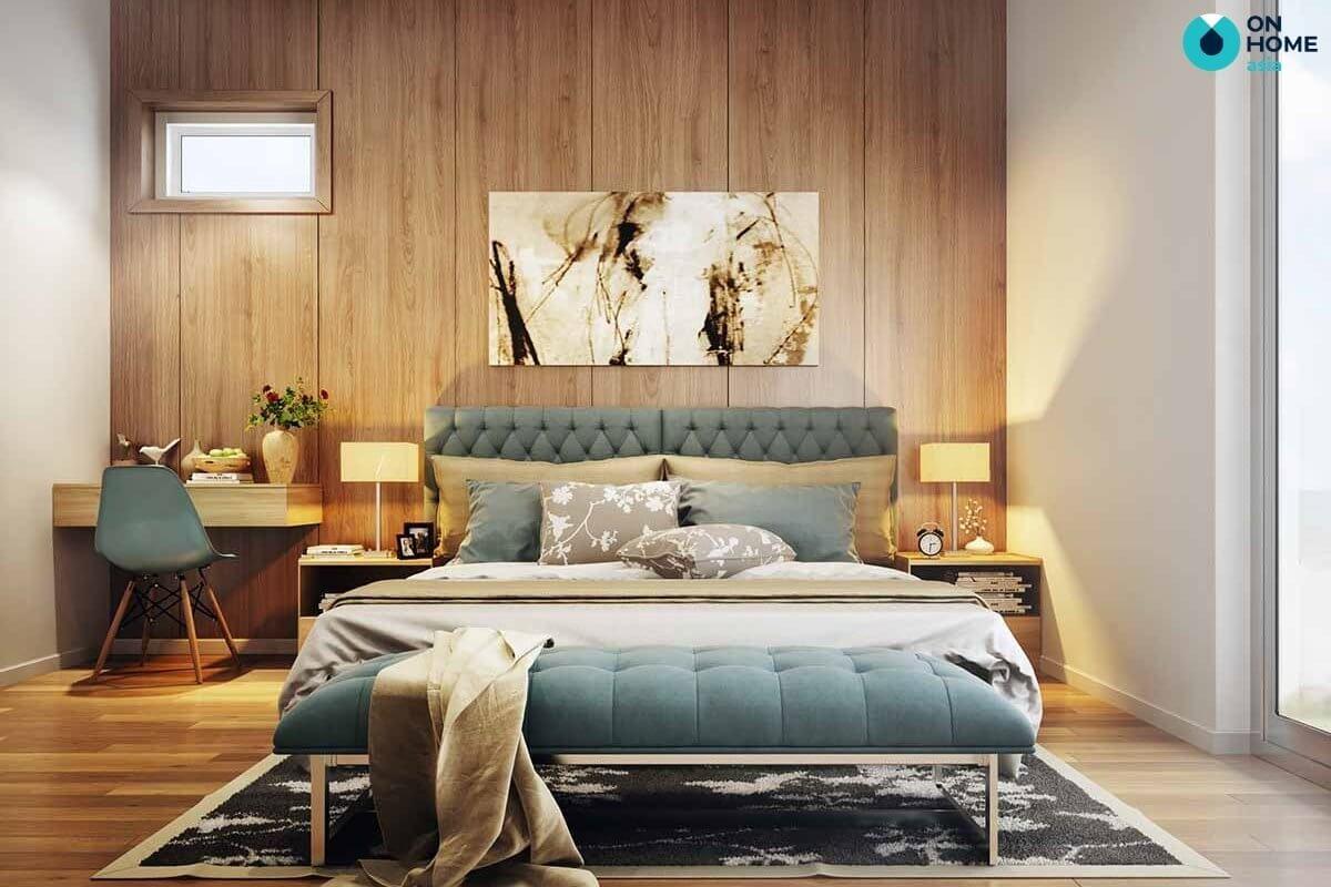 bố trí nội thất phòng ngủ 20m2 hiện đại