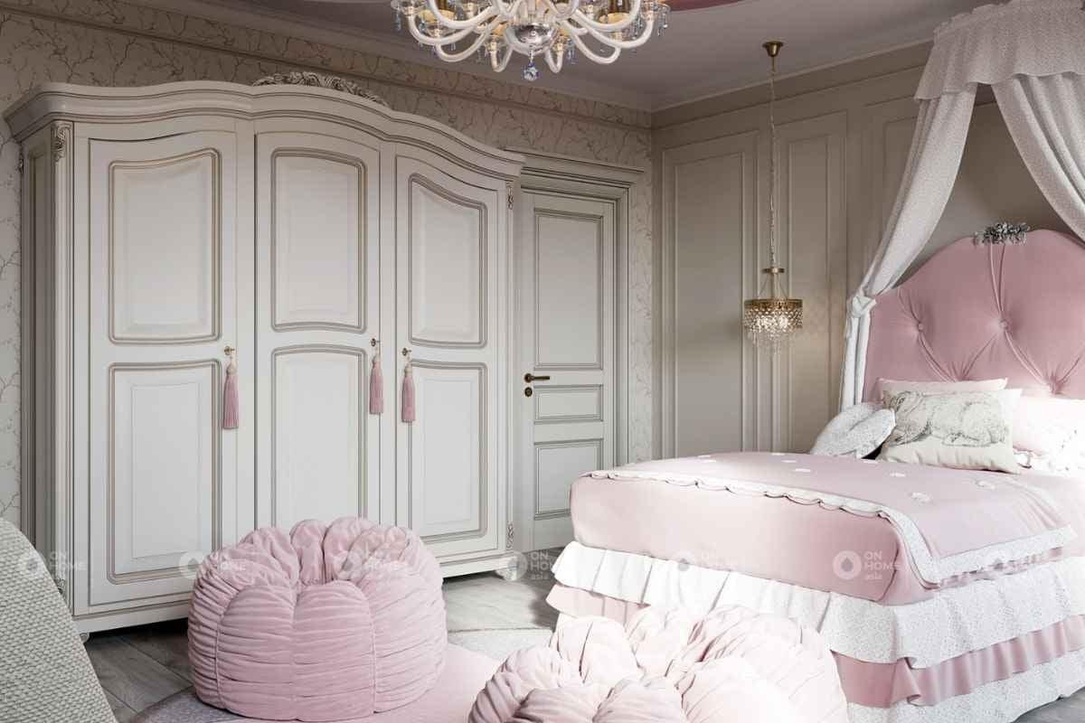 Bố trí nội thất phòng ngủ màu hồng