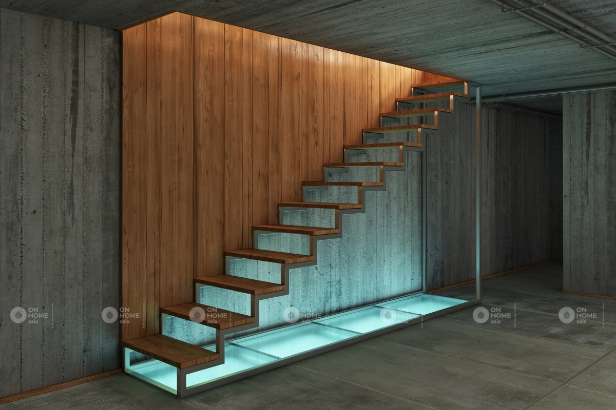 cầu thang bậc hở