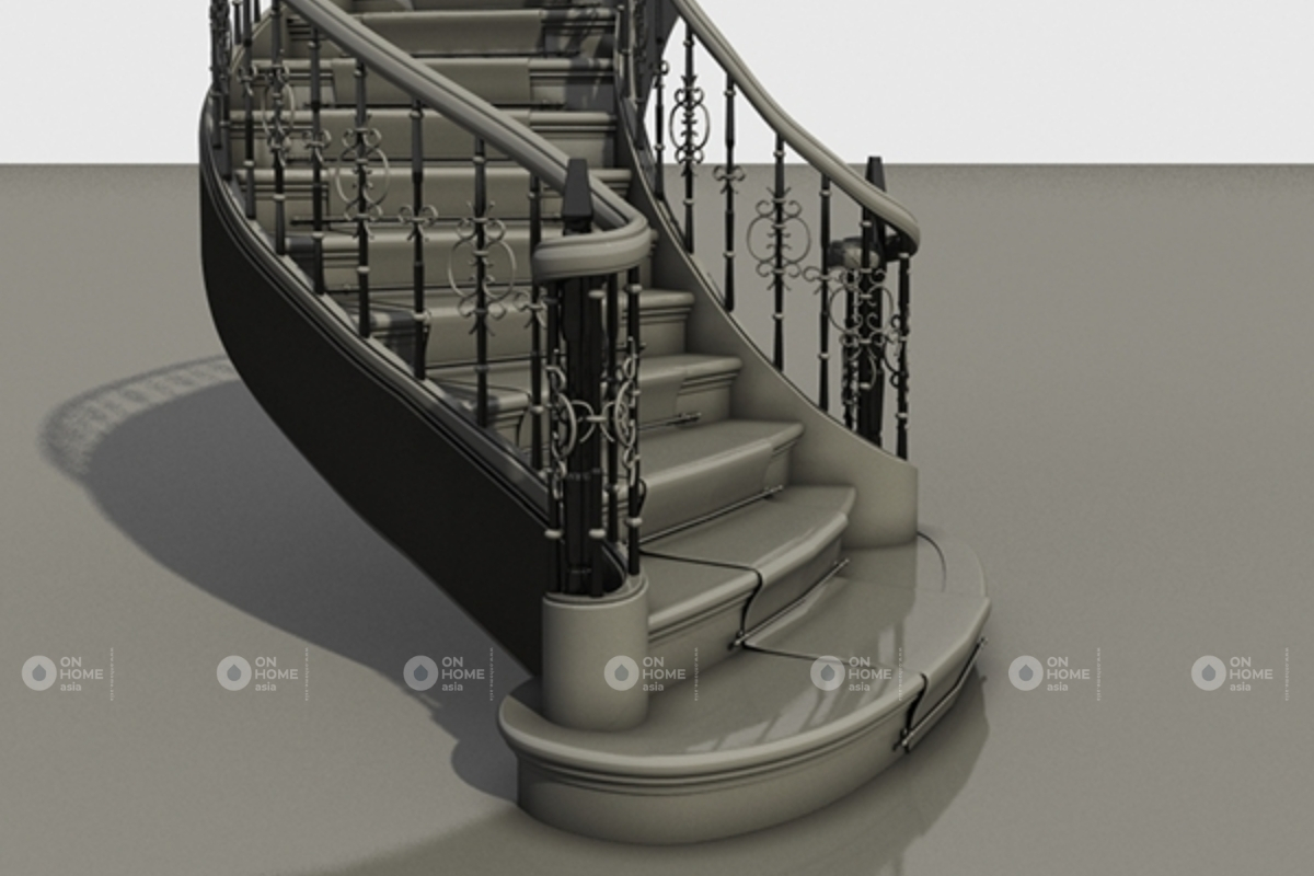 cầu thang giữa nhà