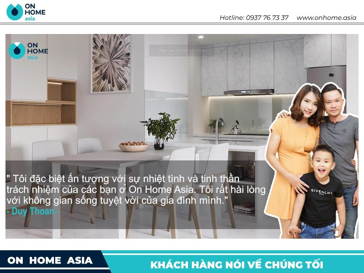 cam nhan khach hang ve on home asia