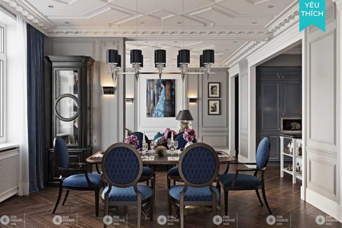 thiết kế nội thất chung cư tân cổ điển đậm chất hoàng gia