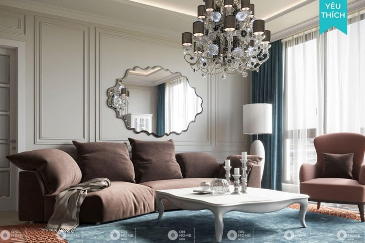 thiết kế nội thất chung cư tân cổ điển đẳng cấp sang trọng