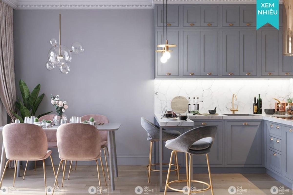 thiết kế nội thất chung cư tân cổ điển đơn giản