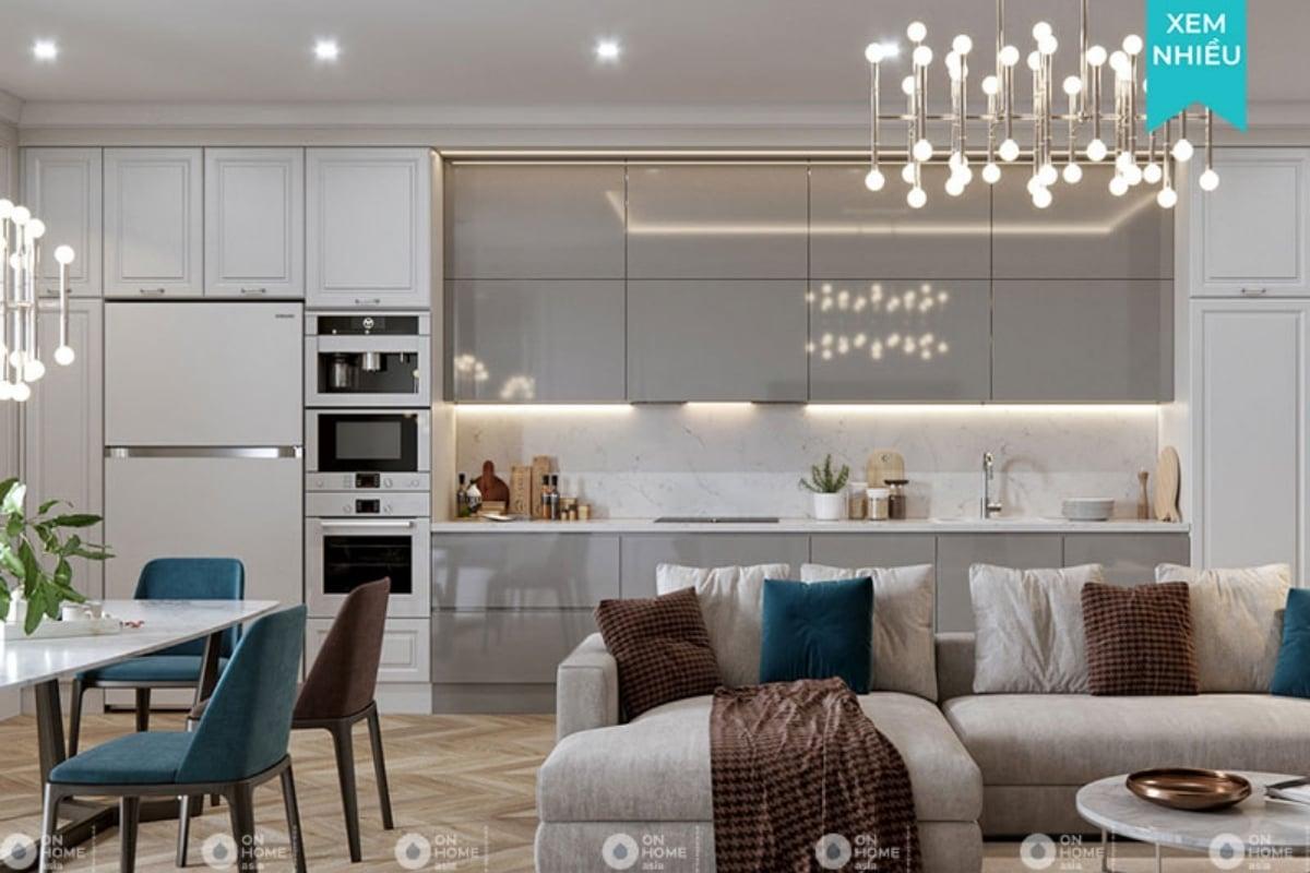 thiết kế nội thất chung cư tân cổ điển mang vẻ đẹp thời thượng