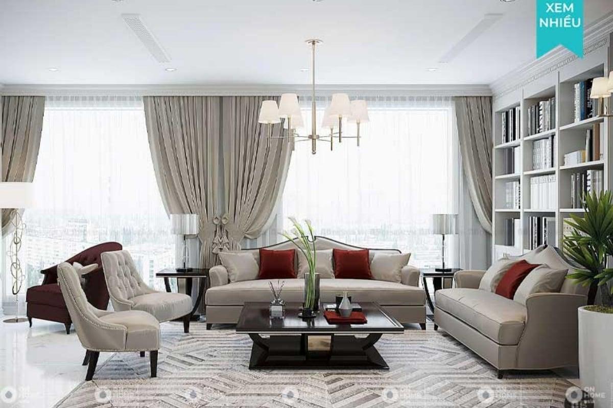 Thiết kế nội thất chung cư Tân cổ điểncuốn hút mọi ánh nhìn
