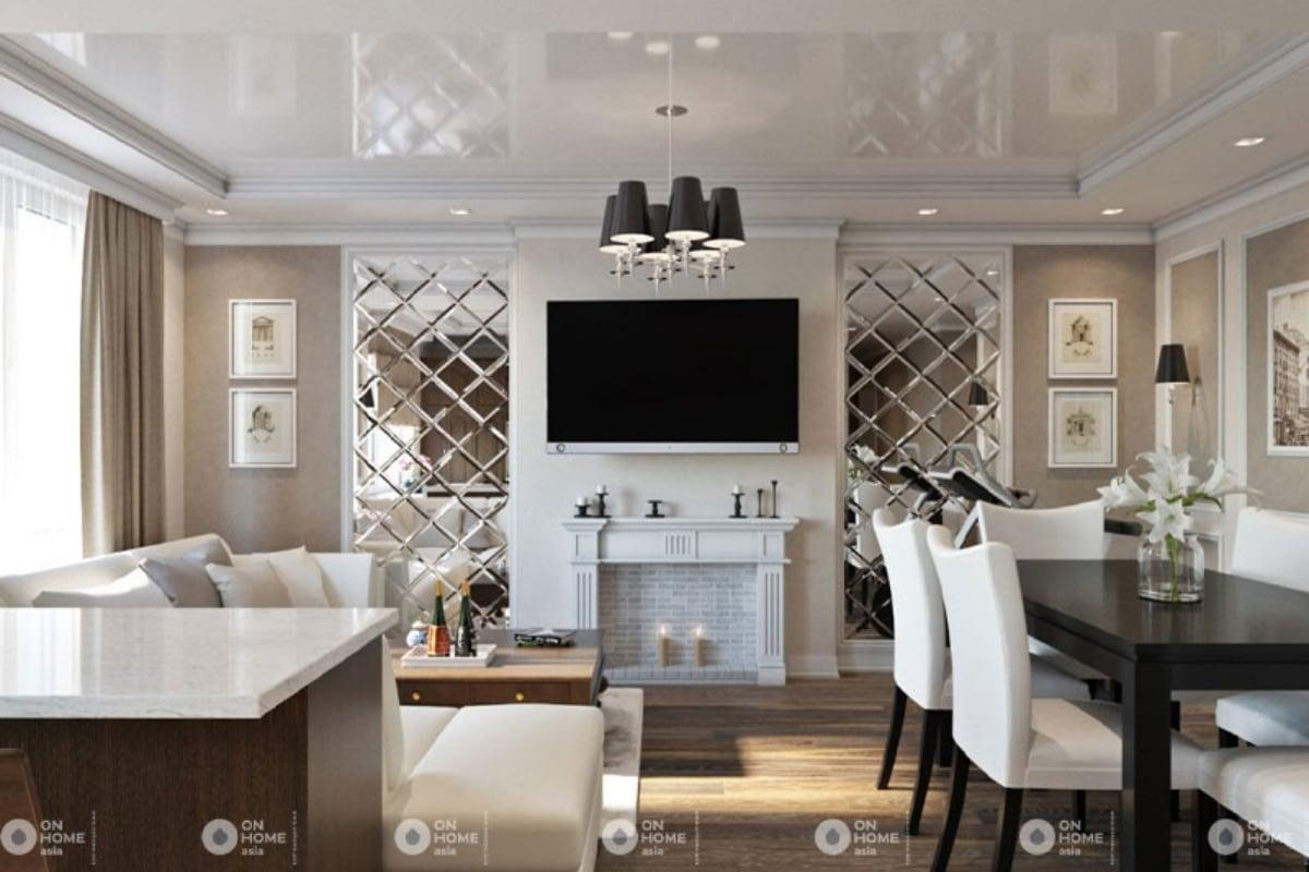 Thiết kế nội thất chung cư Tân cổ điển mang vẻ đẹp vượt thời gian