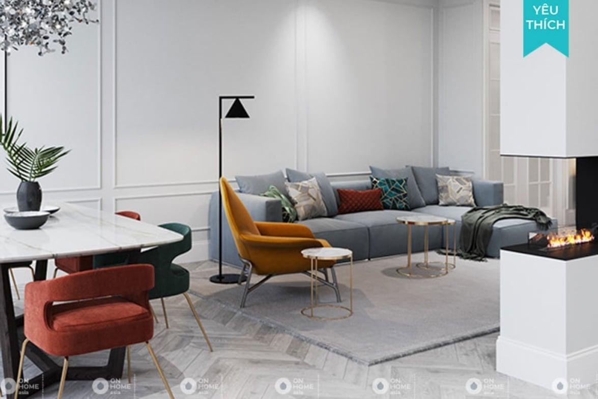 Thiết kế nội thất chung cư Tân cổ điển mang nét đẹp hoài cổ