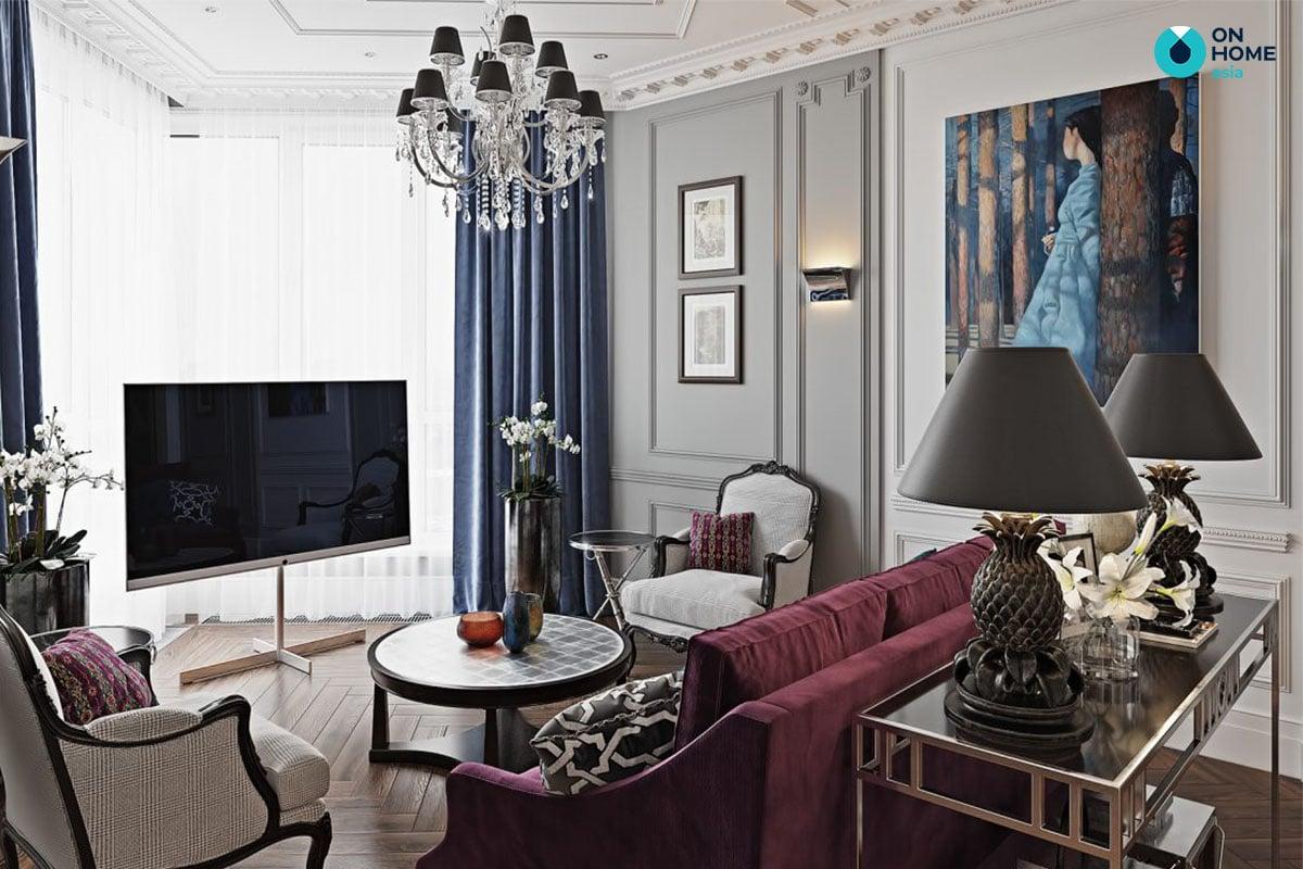 Căn hộ chung cư phong cách nội thất tân cổ điển