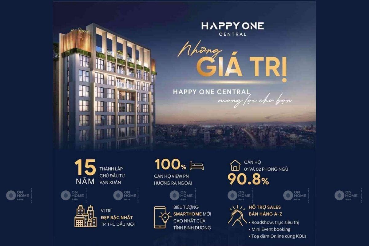 Giá bán căn hộ Happy One Bình Dương