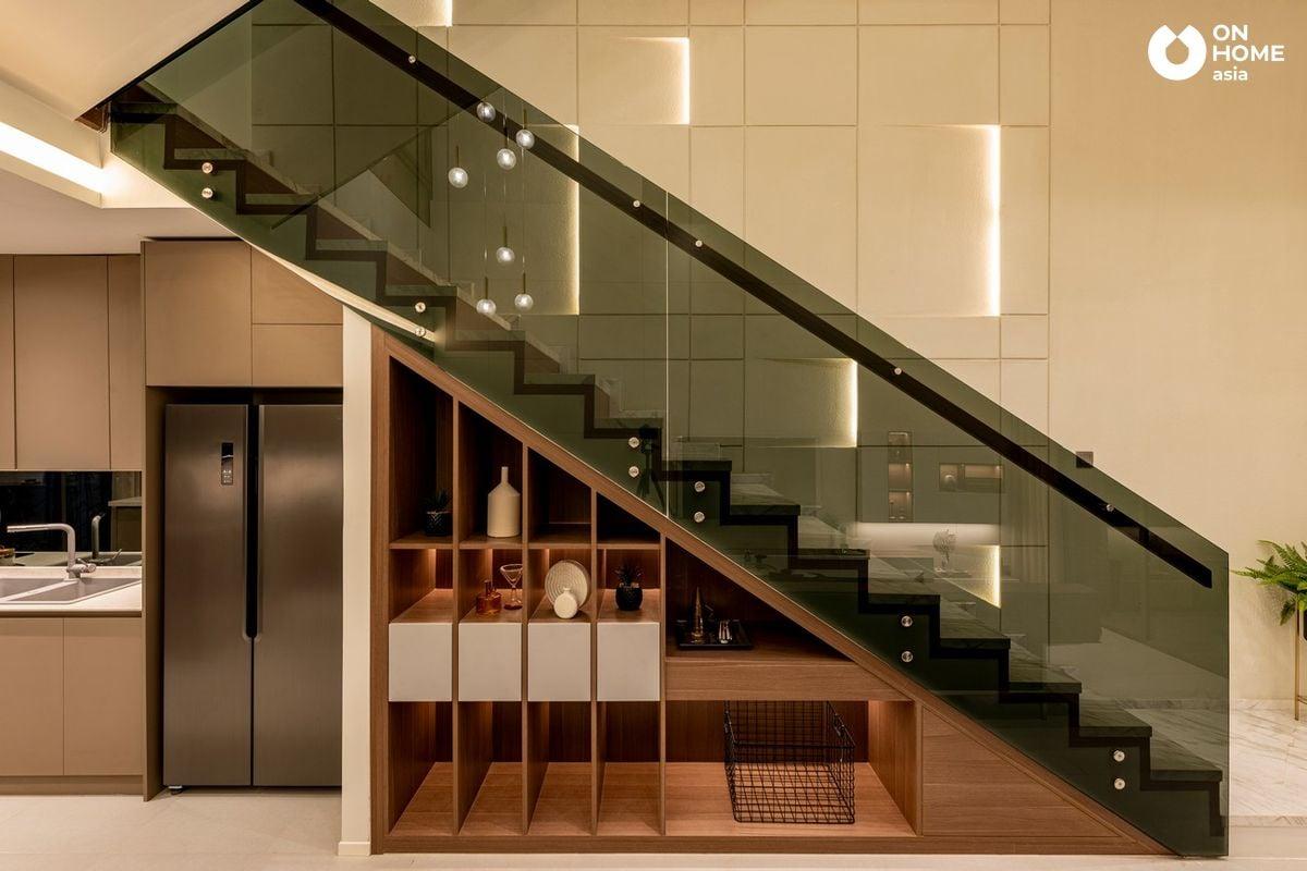 Cầu thang nhà phố 3 tầng The Standard Central Park
