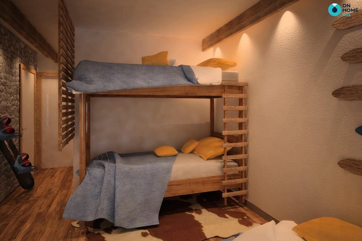 Chất liệu gỗ cho phòng ngủ bé trai