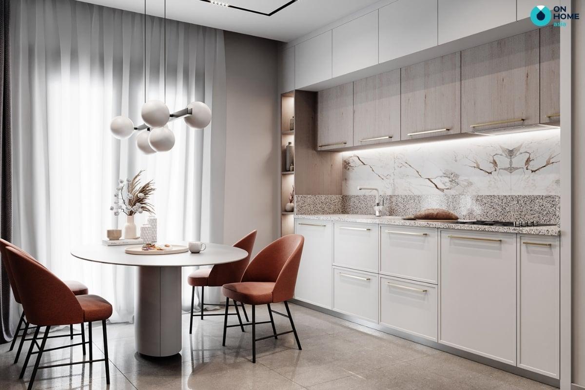 không gian nhà bếp đẹp và sang trọng
