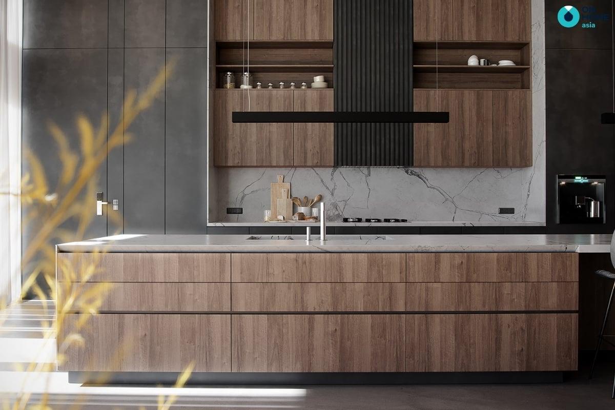 phòng bếp đẹp và hiện đại