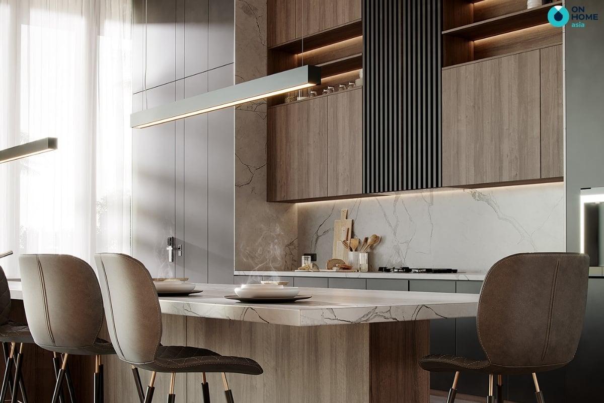 nhà bếp chung cư đẹp và hiện đại