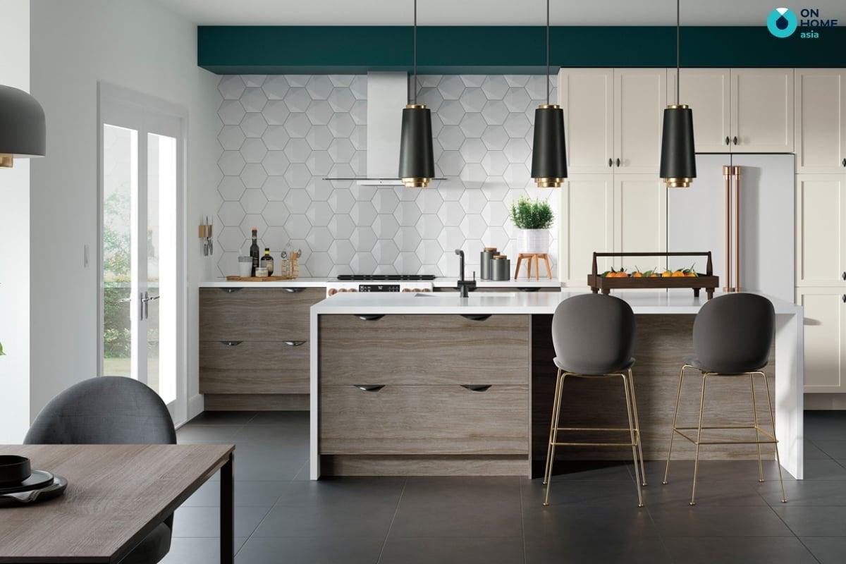 phòng bếp có thiết kế đảo bếp