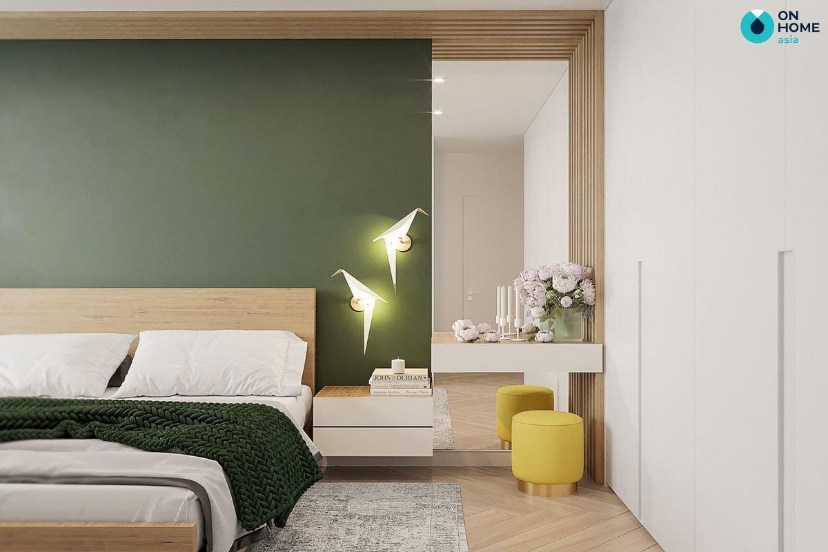 Nên thiết kế đầu giường cao hơn hoặc bằng với chân giường sẽ giúp anh/chị có giấc ngủ ngon hơn