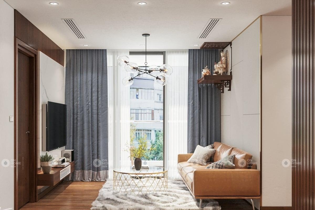 Nội thất căn hộ chung cư Eco Xuân Sky Residence 2 phòng ngủ