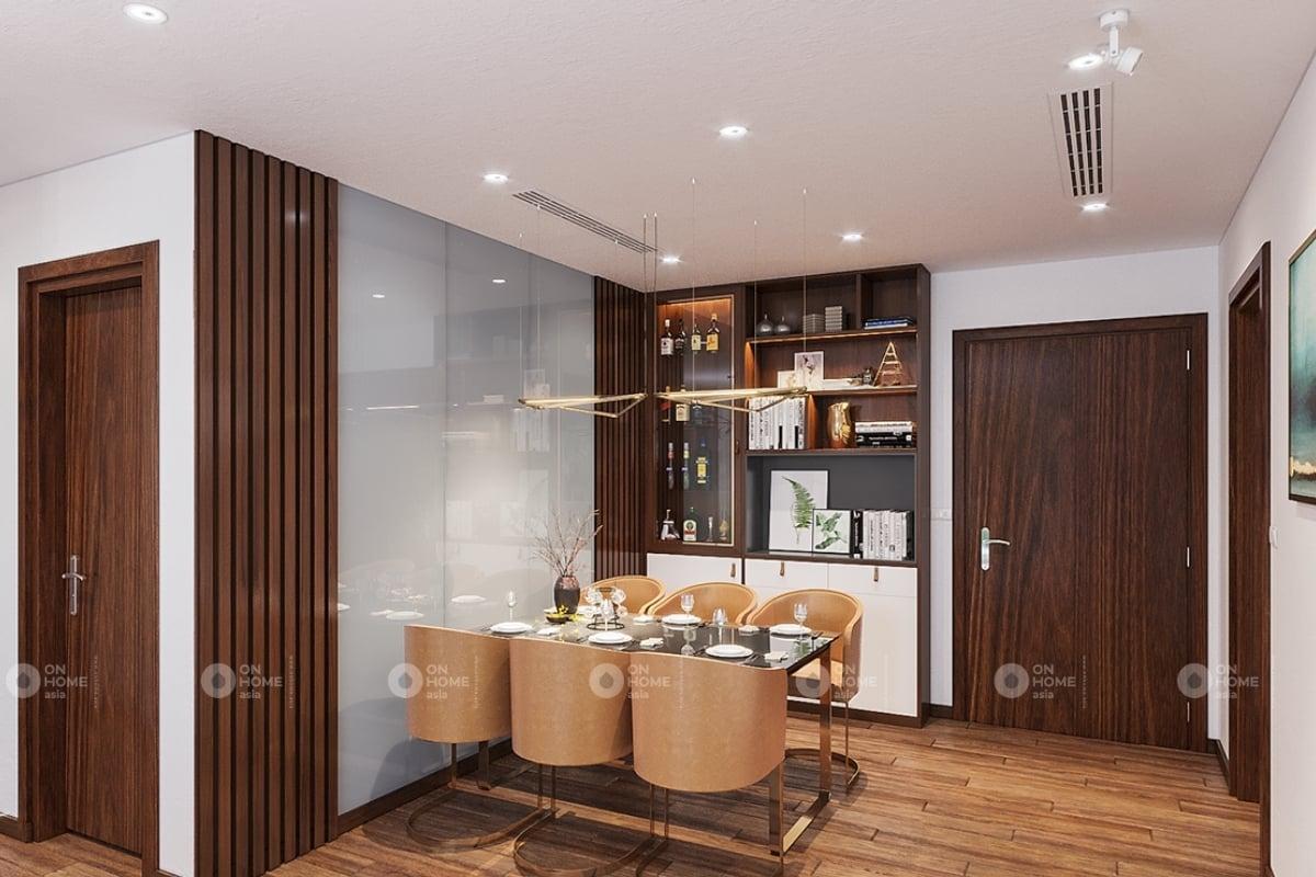 Nội thất phòng bếp căn hộ chung cư Eco Xuân Lái Thiêu 2 phòng ngủ