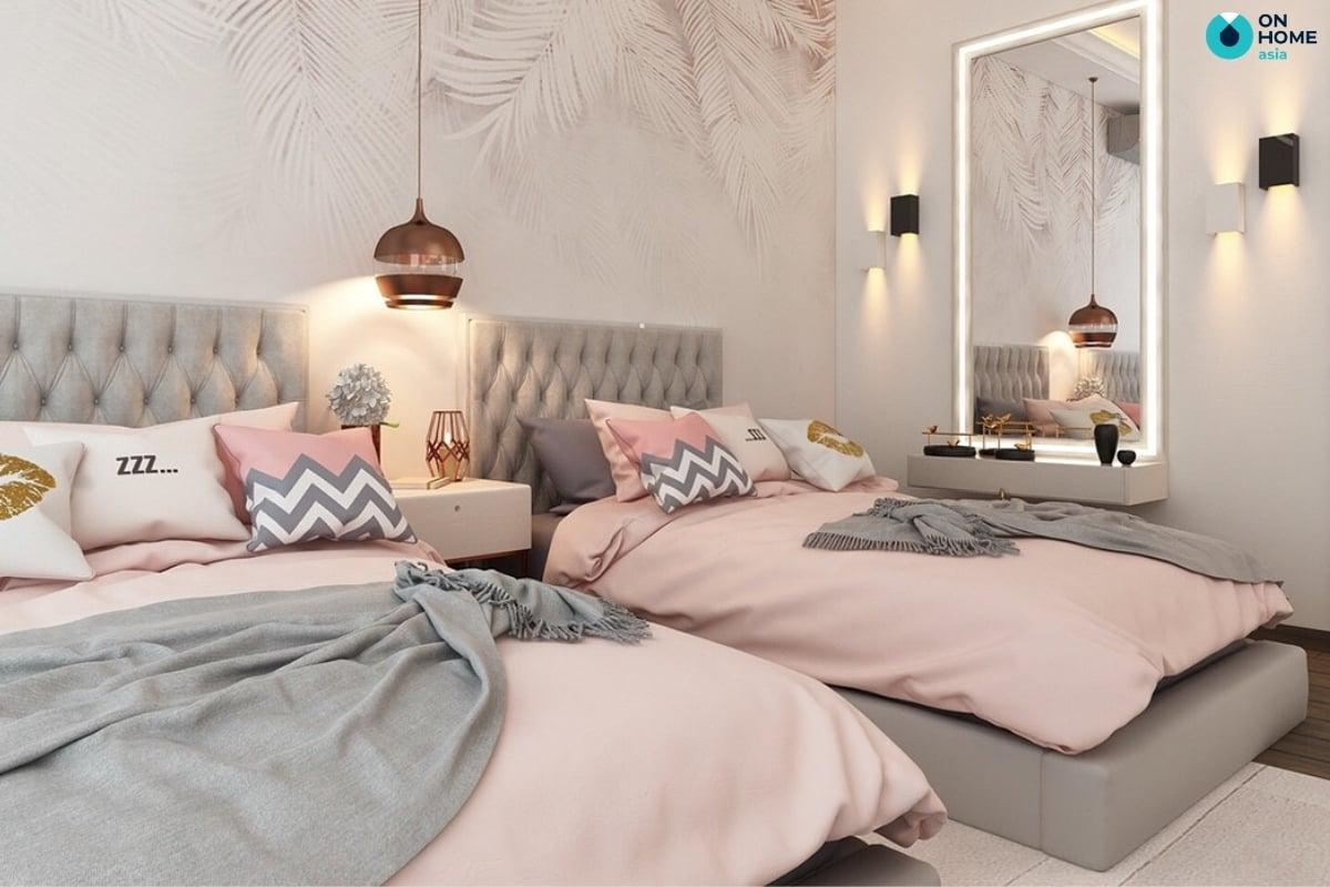 giường đôi dễ thương