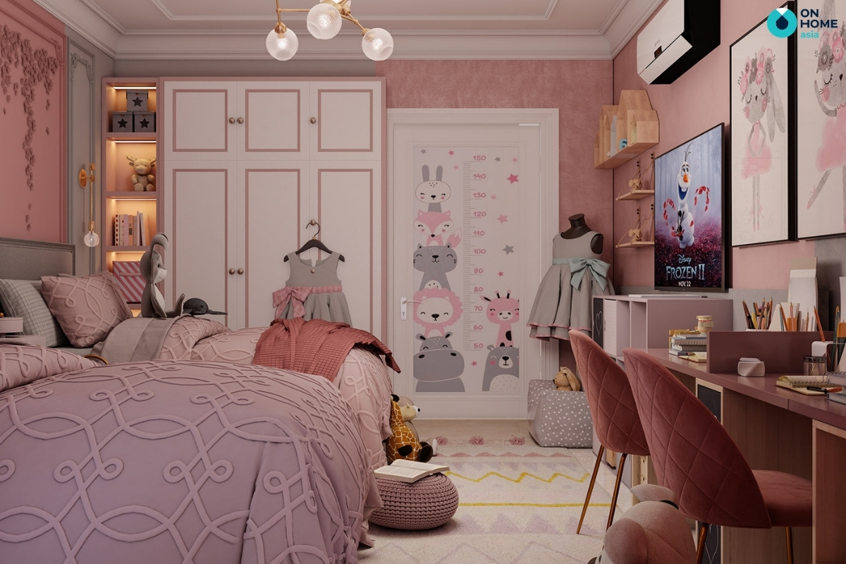 giường cho phòng ngủ bé gái
