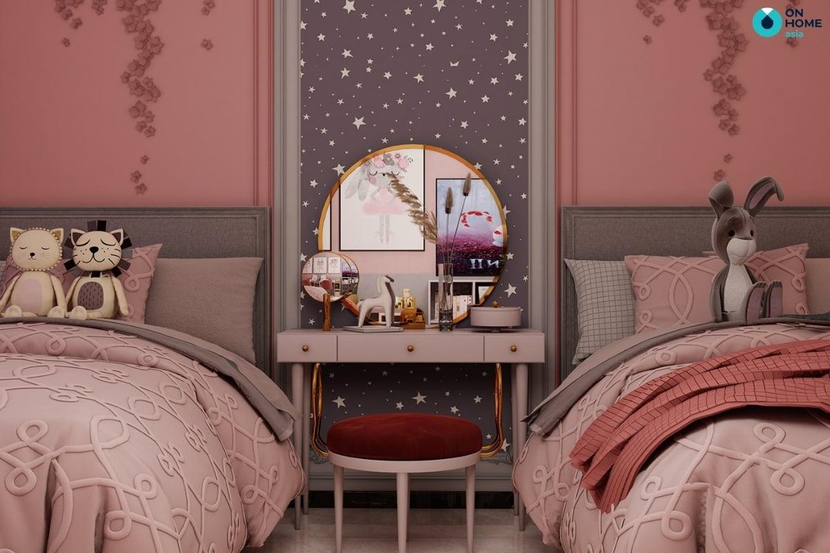 nội thất giường ngủ cho phòng ngủ bé gái