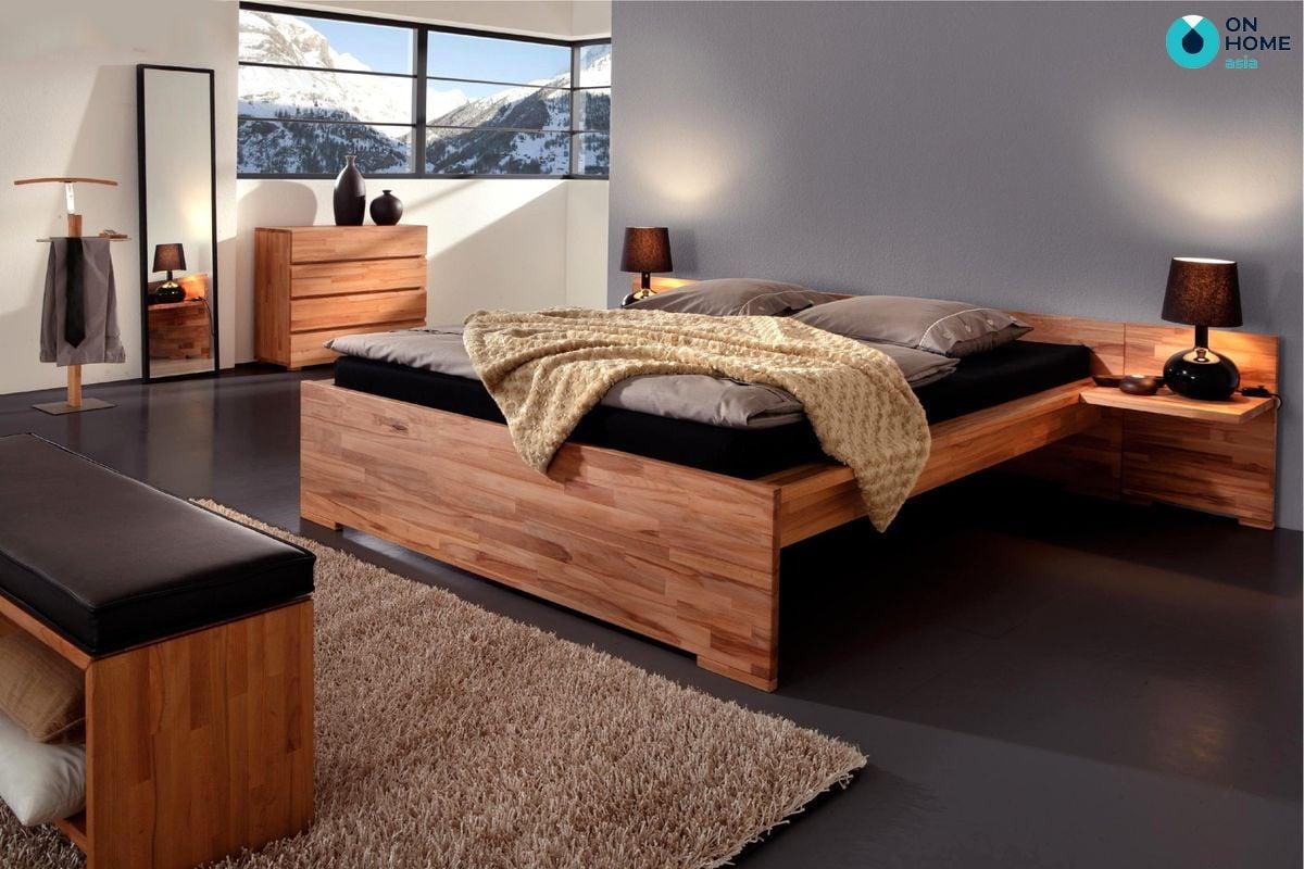 Giường ngủ được làm từ gỗ công nghiệp