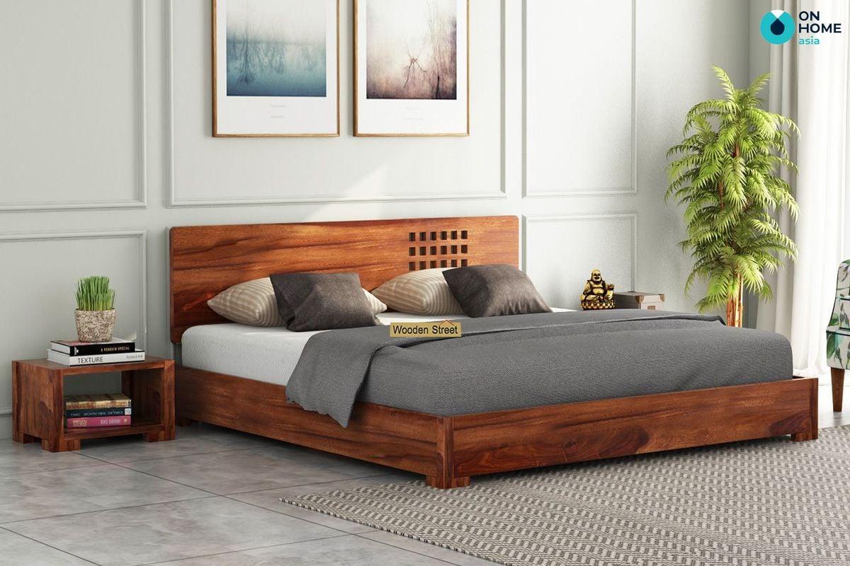 Giường ngủ với chất liệu gỗ tự nhiên