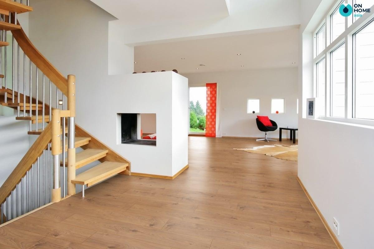 Sàn gỗ chỉ có thể ứng dụng trong một số khu vực nhất định